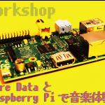 【Play the music プロジェクト】『Pure DataとRaspberry Piで音楽体験』ワークショップ